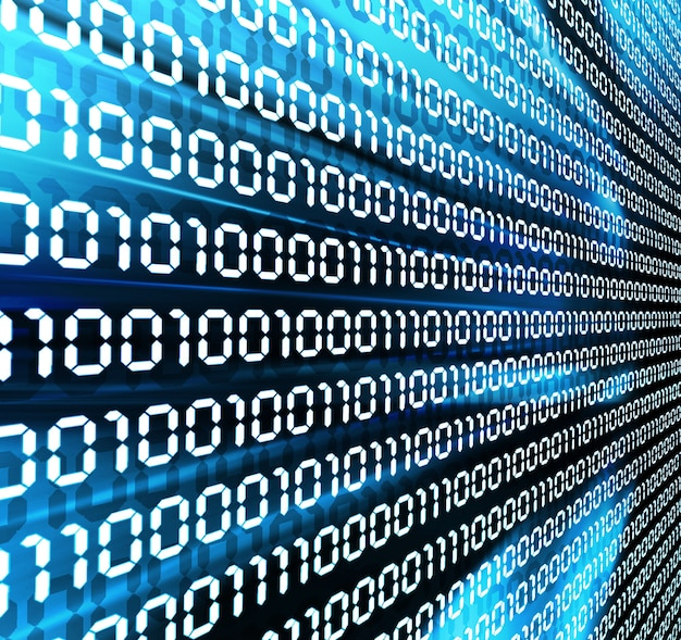 Fundo abstrato do código binário