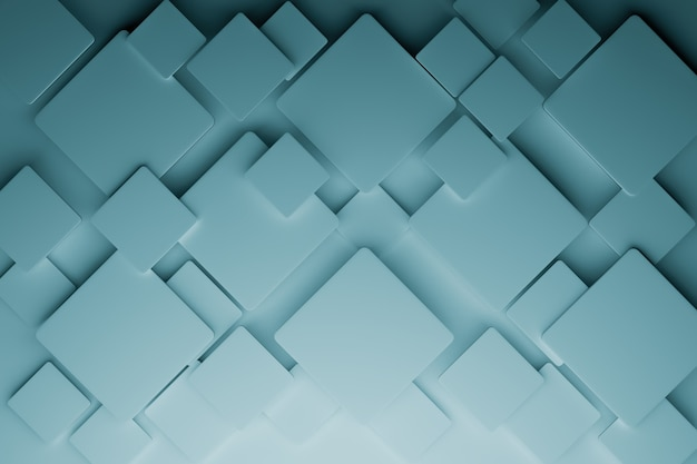 Fundo abstrato do cubo 3d, renderização de ilustrações 3d