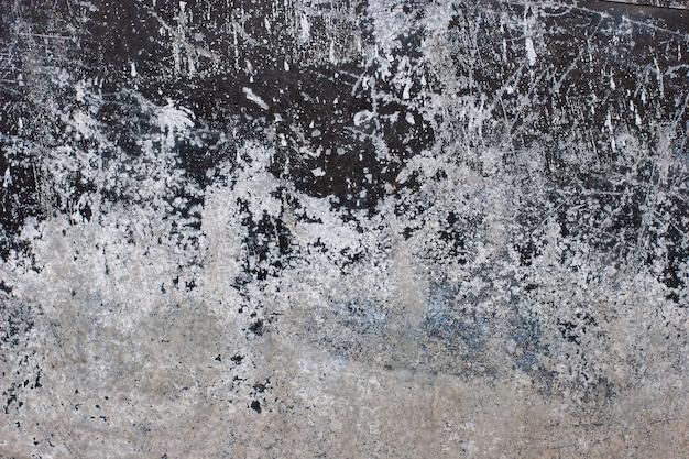 Fundo abstrato do grunge. metal enferrujado velho com corrosão, arranhões e arranhões. a cor da tinta é preto e branco.