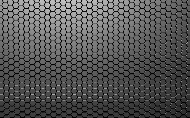 Fundo abstrato do hexágono da tecnologia futurista ilustração do mosaico do favo de mel fundo cinza da ilustração 3d