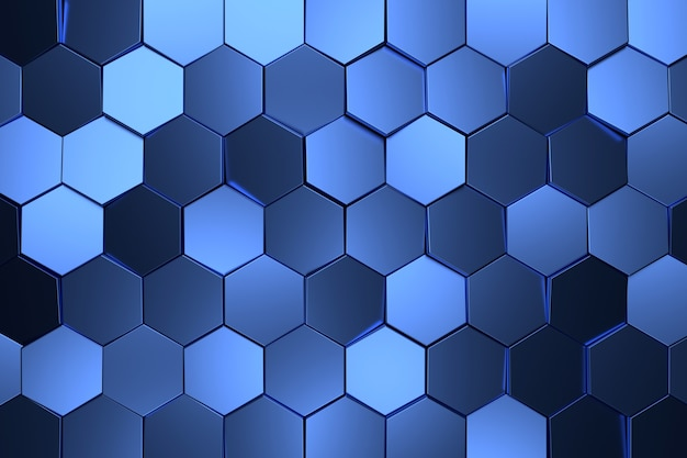 Fundo abstrato do hexágono. renderização 3d.