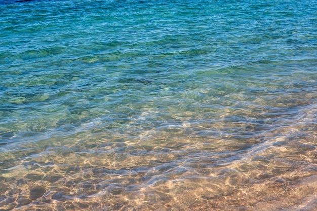 Fundo abstrato do mar fundo abstrato da praia de areia com oceano azul textura bonita