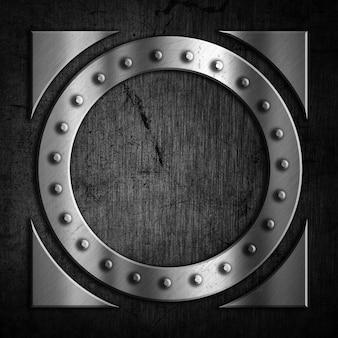 Fundo abstrato do metal com um projeto do grunge