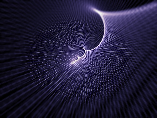 Fundo abstrato do projeto 3d de partículas cibernéticas