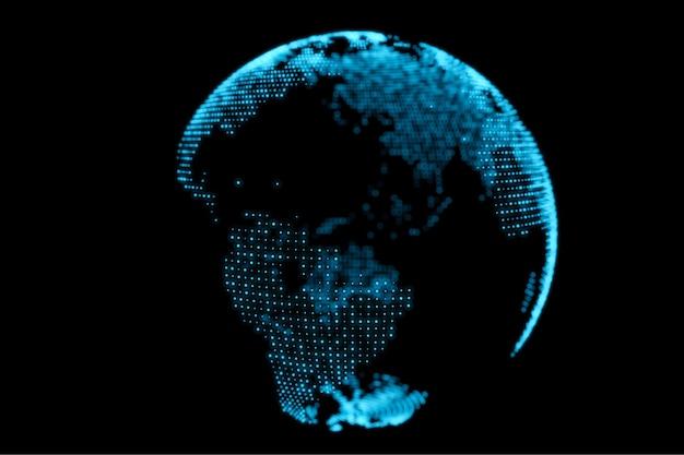Fundo abstrato do projeto do globo terrestre azul