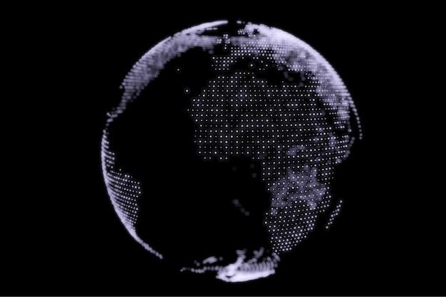 Fundo abstrato do projeto do globo terrestre