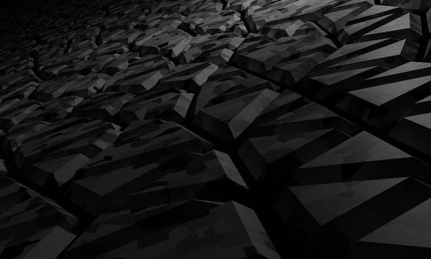 Fundo abstrato do sci fi voronoi. ilustração de renderização 3d.