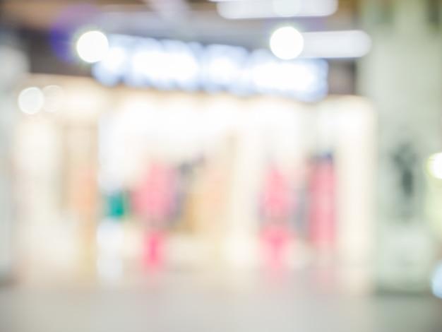 Fundo abstrato do shopping, profundidade de foco rasa.