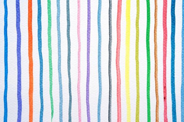 Fundo abstrato do teste padrão das linhas da aquarela. aquarela colorida pintada pinceladas em branco. fechar-se.