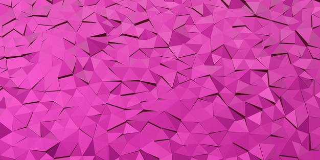Fundo abstrato do triângulo. fundo violeta e lilás, renderização em 3d. ilustração 3d