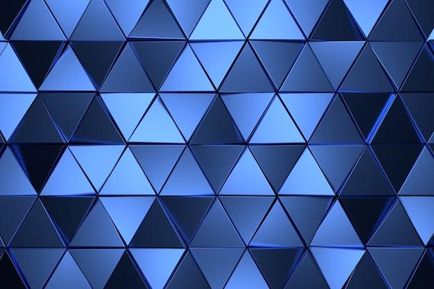 Fundo abstrato do triângulo. renderização 3d.