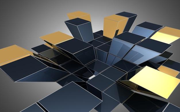 Fundo abstrato dos cubos. ilustração 3d