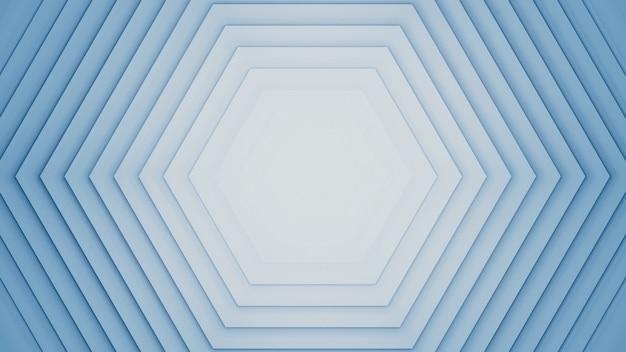 Fundo abstrato dos hexágonos da rendição 3d.