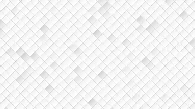 Fundo abstrato dos quadrados brancos. estilo geométrico dinâmico elegante e luxuoso para negócios, ilustração 3d