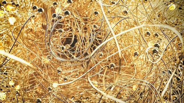 Fundo abstrato dourado, brilhante e elegante.
