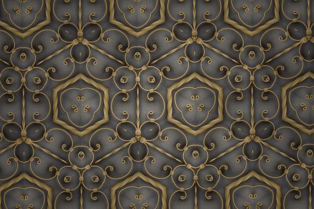 Fundo abstrato dourado texturizado, linhas e formas