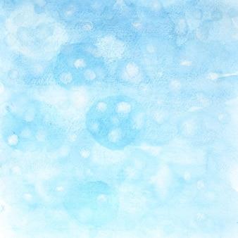 Fundo abstrato em aquarela de inverno com flocos de neve