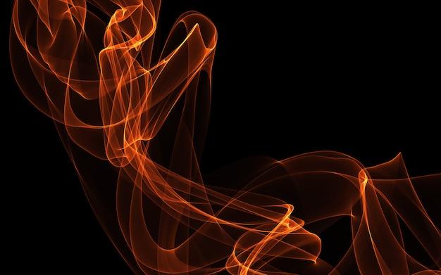 Fundo abstrato escuro com um brilhante ondas abstratas