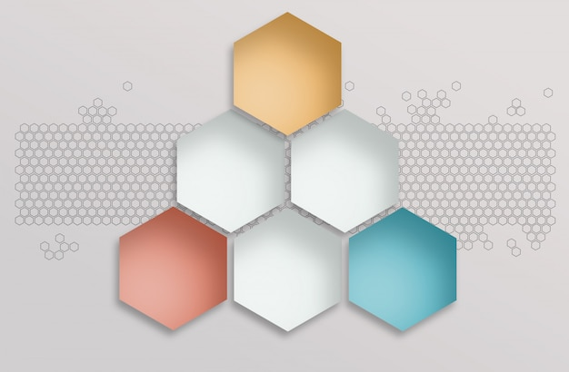 Fundo abstrato espaço poligonal