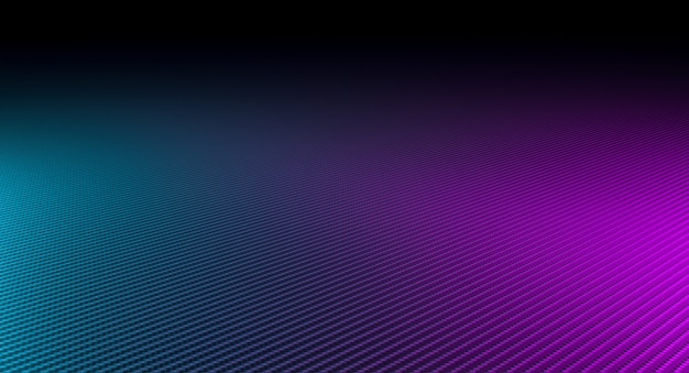 Fundo abstrato feito de fibra de carbono e luzes de cores diferentes.