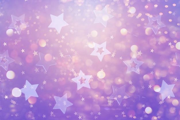 Fundo abstrato festivo com estrelas azuis.