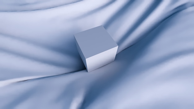 Fundo abstrato, forma geométrica azul mínima para exibição de produtos