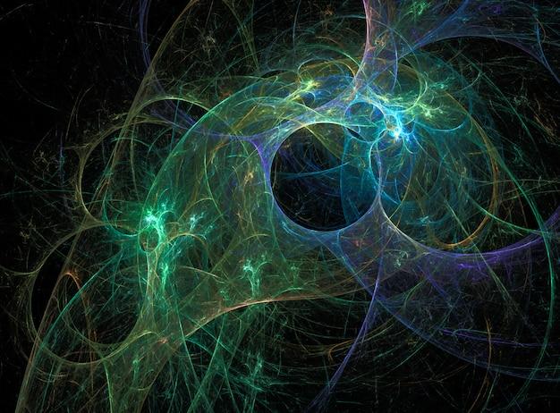 Fundo abstrato fractal digital no preto