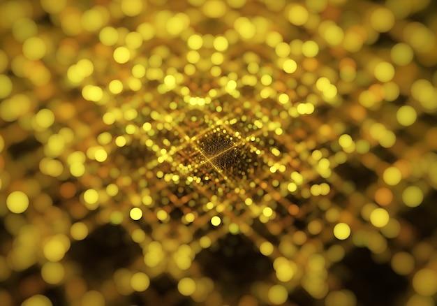 Fundo abstrato fractal dourado, textura.