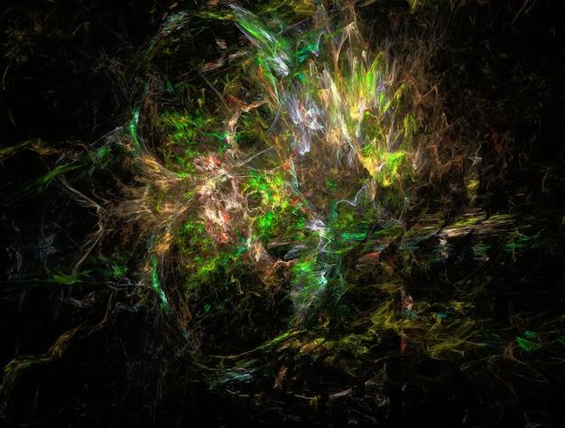 Fundo abstrato fractal, efeito psicodélico