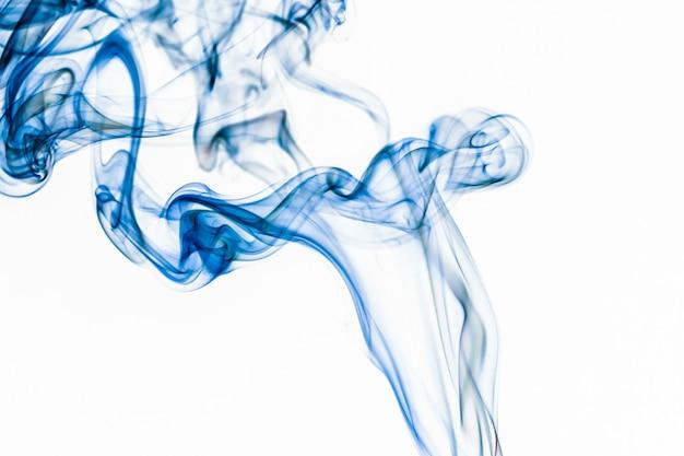 Fundo abstrato fumaça azul close-up borrão