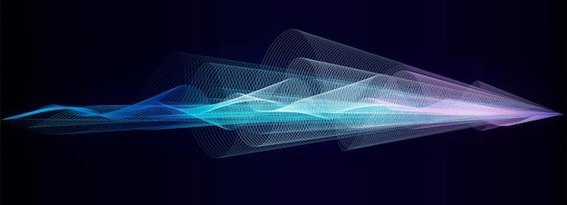 Fundo abstrato, fundo abstrato da tecnologia da onda, fundo com raios