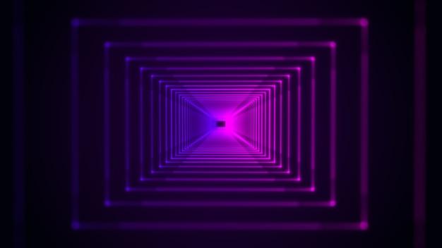 Fundo abstrato futurista de alta tecnologia com espectro de luz de néon azul e roxo
