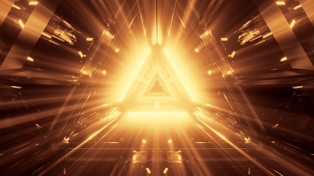 Fundo abstrato futurista legal com luz de néon brilhante