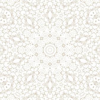 Fundo abstrato geométrico dourado no branco. padrão para decoração e design, padrão simétrico de cor dourada
