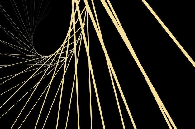 Fundo abstrato geométrico fundo preto minimalista com listras douradas