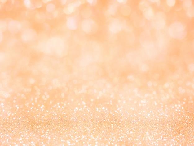 Fundo abstrato glitter laranja com bokeh