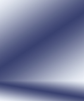 Fundo abstrato gradiente azul escuro liso com vinheta preta estúdio