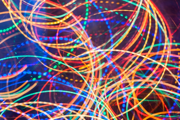 Fundo abstrato luz de neon