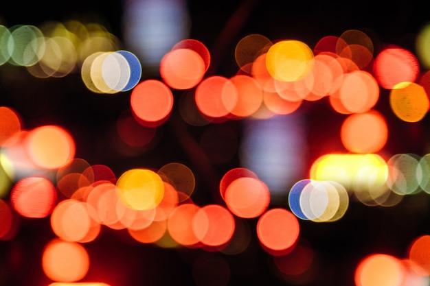 Fundo abstrato luzes circulares bokeh