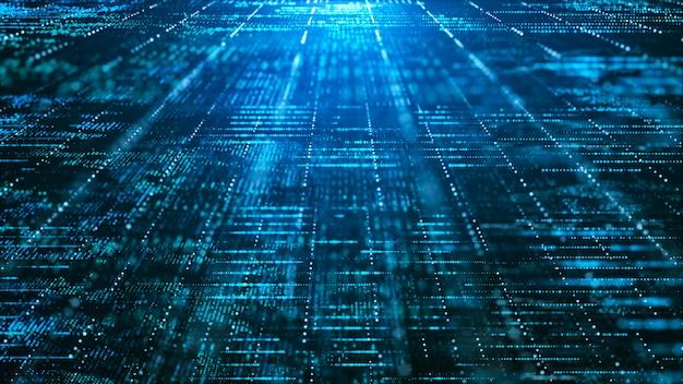 Fundo abstrato matriz digital. conceito de tecnologia de informação de grande volume de dados futurista.