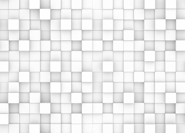 Fundo abstrato mosaico quadriculado com quadrados brancos e cinza