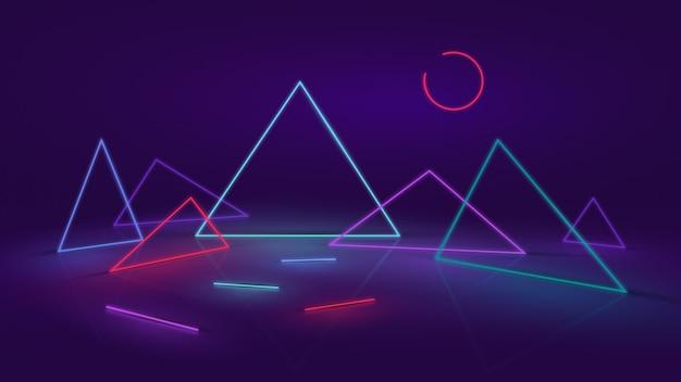 Fundo abstrato neon ou led