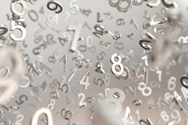 Fundo abstrato número metálico
