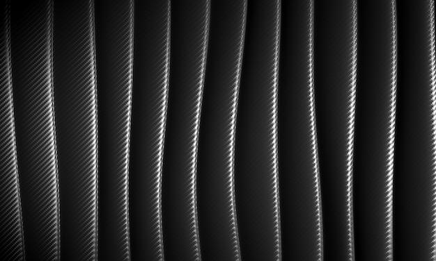 Fundo abstrato onda no padrão de fibra de carbono.