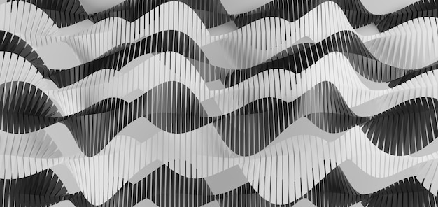 Fundo abstrato onda preto e branco geométrico