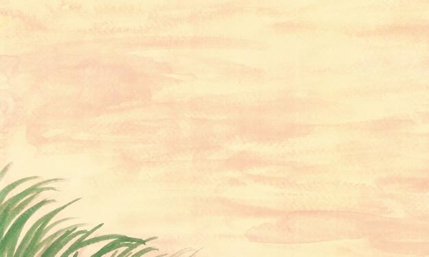 Fundo abstrato paisagem de grama pastel amarelo terroso outonal técnica de arquivo de varredura de highres