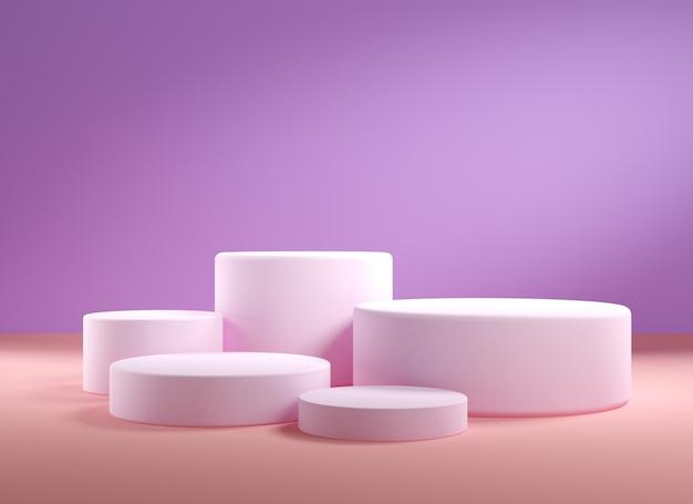 Fundo abstrato para apresentação do produto, pódios vazios, 3d