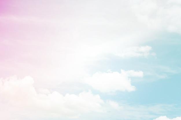 Fundo abstrato pastel de cor, um céu suave com fundo de nuvem em cor pastel