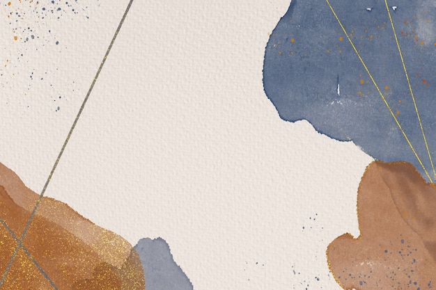 Fundo abstrato pintado à mão de aquarela em textura de papel
