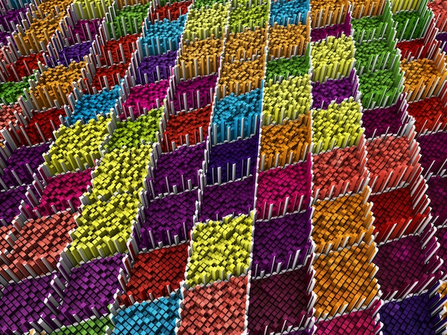 Fundo abstrato pixel 3d